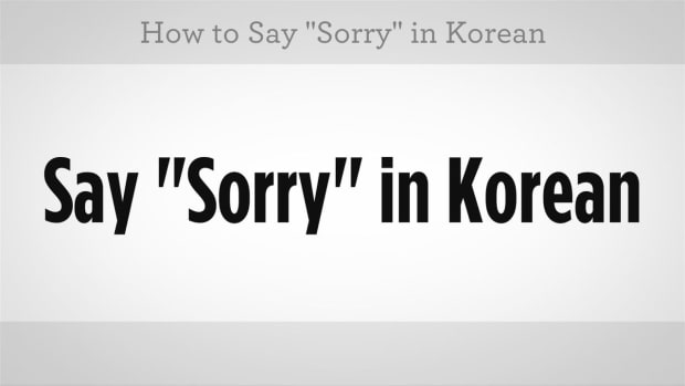 "L. How to Say ""I'm Sorry"" in Korean Promo Image"