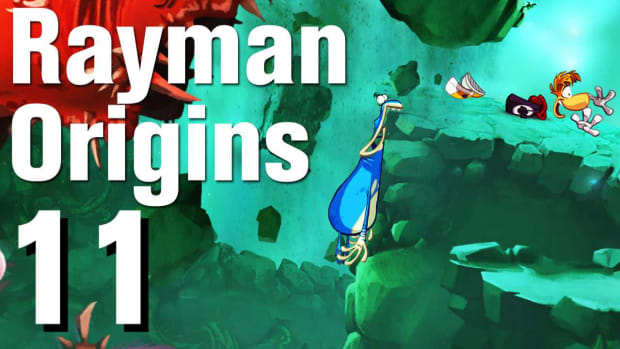K. Rayman Origins Walkthrough 2-4: Skyward Sonata Promo Image