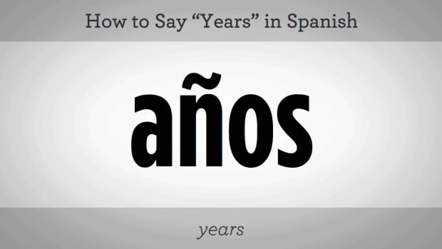 "L. How to Say ""Years"" in Spanish Promo Image"