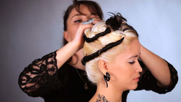 N. How to Twist & Pin Hair for a Wig Promo Image