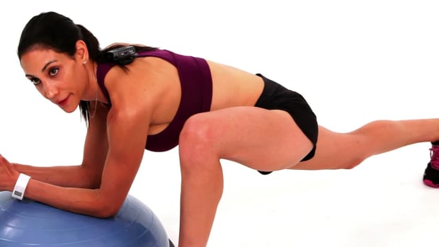 ZM. How to Do a Hip Flexor Stretch with a Bosu Ball Promo Image