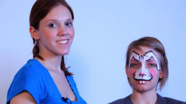 W. How to Paint a Bunny Rabbit with Face Paint Promo Image