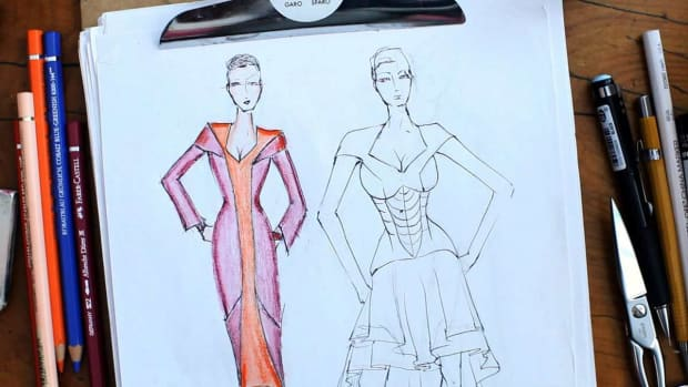 ZD. How to Color a Fashion Sketch Promo Image