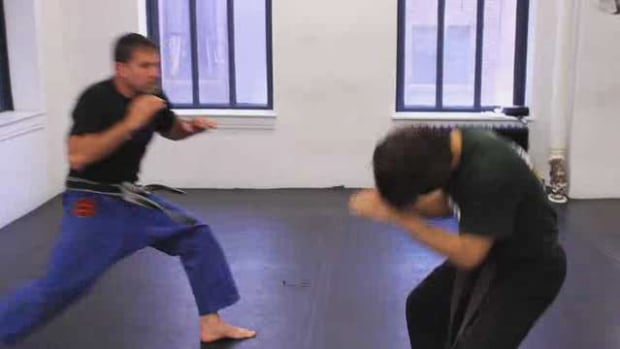 M. How to Escape a Choke from the Rear with a Push in Krav Maga Promo Image