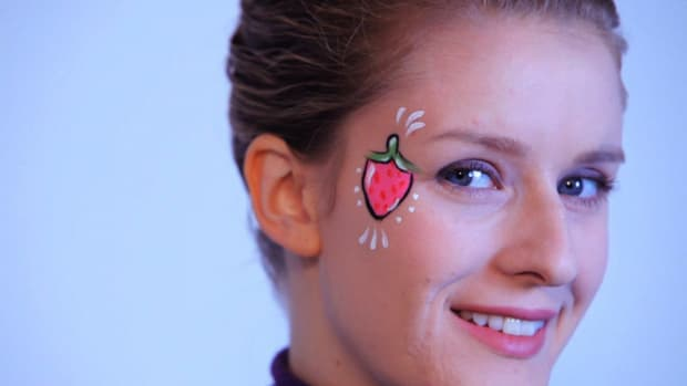 ZF. How to Paint a Strawberry with Face Paint Promo Image