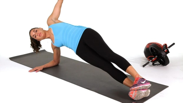 D. How to Do a Side Plank with Hip Lifts Promo Image