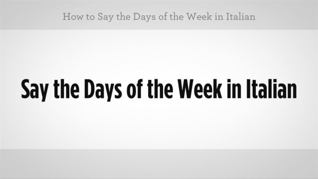 ZZV. How to Say the Days of the Week in Italian Promo Image