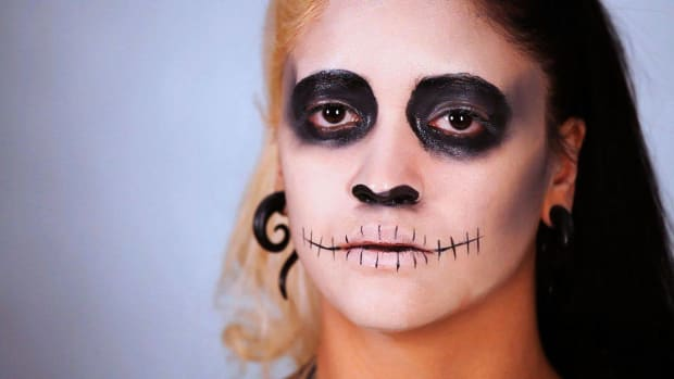 T. How to Do Cheeks & Stitched Lips for Day of the Dead Makeup Promo Image