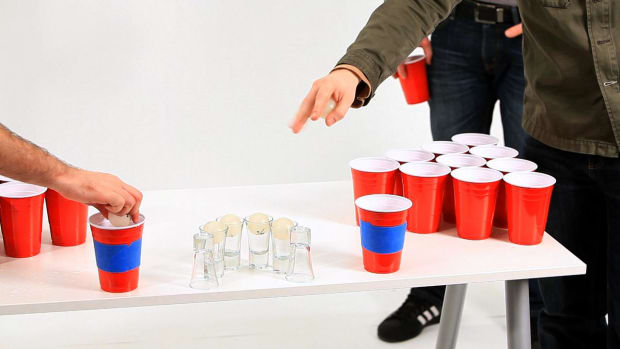 B. Beer Pong Drinking Game Strategy Promo Image