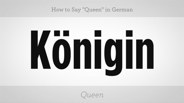 "ZV. How to Say ""Queen"" in German Promo Image"
