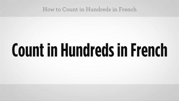 ZL. How to Count in Hundreds in French Promo Image