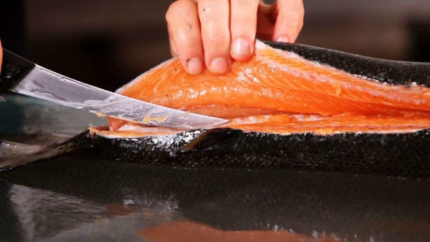 G. How to Cut Salmon into 2 Fillets Promo Image