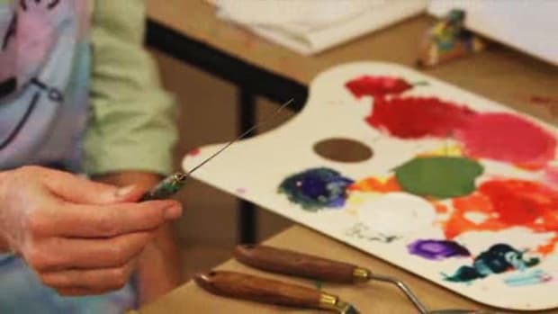 C. How to Use a Palette Knife with Acrylic Paint Promo Image