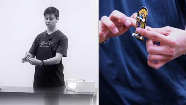 L. Fingerboarding Front Finger Impossible Tech Deck Trick Promo Image