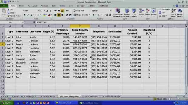 F. How to Navigate Cells, Rows & Columns in Excel Promo Image