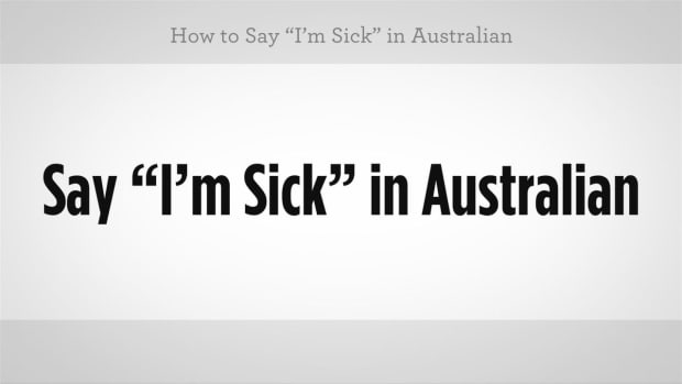 "N. How to Say ""I'm Sick"" in Australian Slang Promo Image"