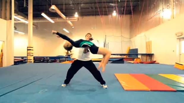Q. How to Do a Backflip Drill in Gymnastics Promo Image