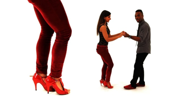 F. How to Do the Bachata Basic with a Kick Shuffle Promo Image