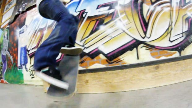 T. How to Do a Half Cab Noseslide on a Skateboard Promo Image