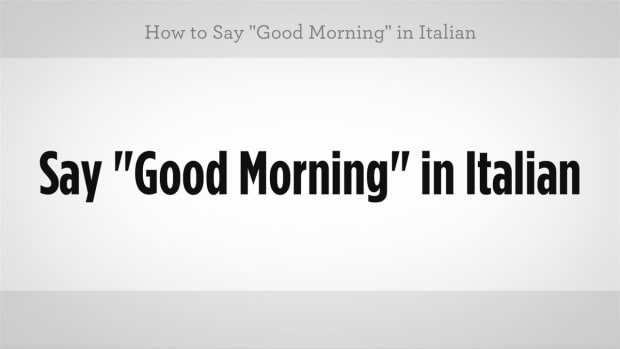 "L. How to Say ""Good Morning"" in Italian Promo Image"