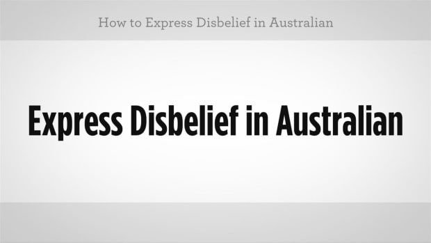 ZF. How to Express Disbelief in Australian Slang Promo Image