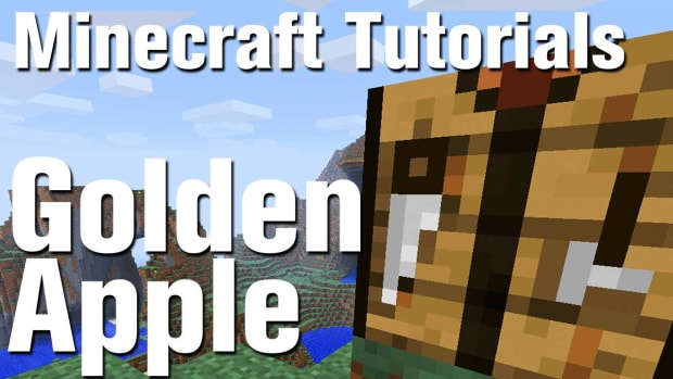 ZR. Minecraft Tutorial: How to Make a golden apple in Minecraft Promo Image