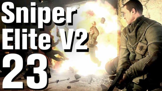 W. Sniper Elite V2 Walkthrough Part 23 - Tiergarten Flak Tower Promo Image