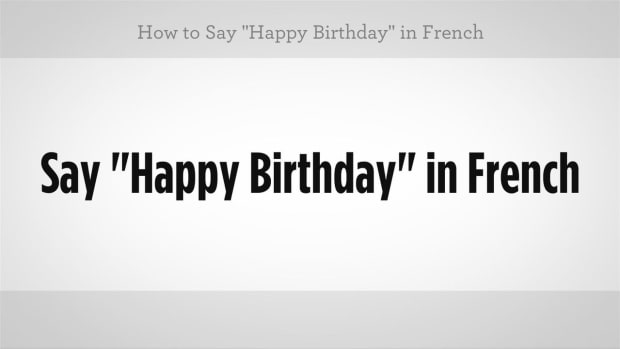 "ZJ. How to Say ""Happy Birthday"" in French Promo Image"