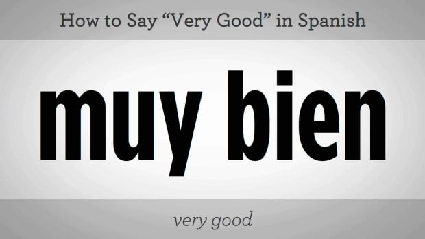 "S. How to Say ""Very Good"" in Spanish Promo Image"