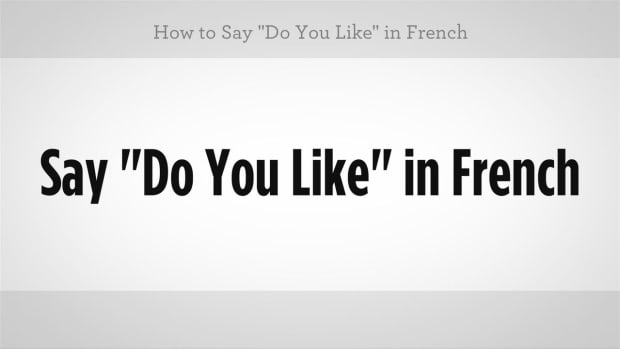 "ZZF. How to Say ""Do You Like"" in French Promo Image"