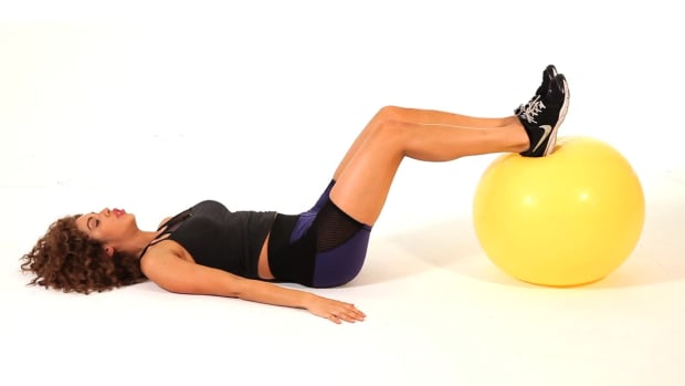 ZL. How to Do a Hip Lift on an Exercise Ball for a Sexy Butt Promo Image