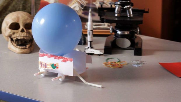 T. How to Demonstrate Newton's Third Law of Motion using a Paper Car & a Balloon Promo Image
