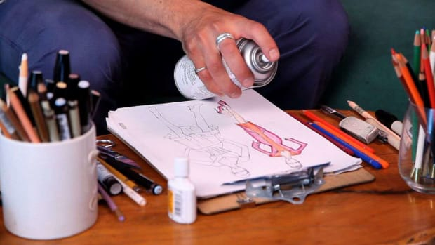 ZF. How to Finish a Fashion Sketch Promo Image