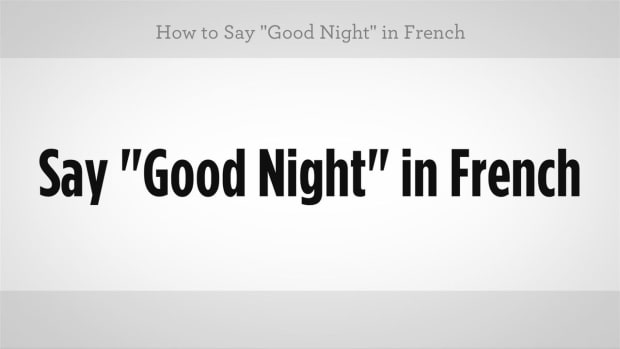 "J. How to Say ""Good Night"" in French Promo Image"