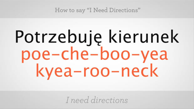 "ZZ. How to Say ""I Need Directions"" in Polish Promo Image"