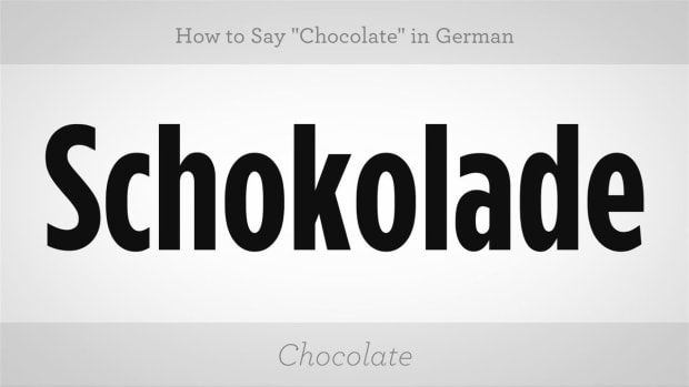 "ZM. How to Say ""Chocolate"" in German Promo Image"