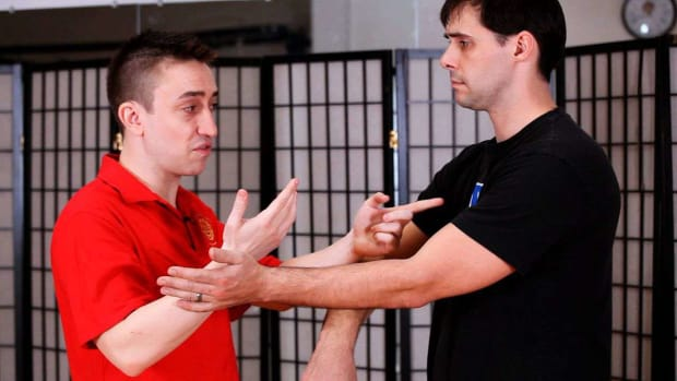 R. How to Do a Wu Sau aka Guarding Hand in Wing Chun Promo Image
