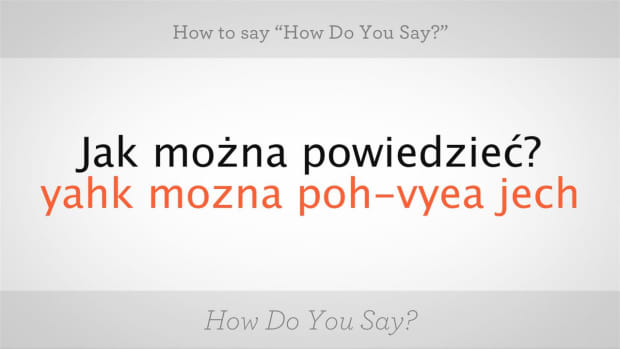 "ZV. How to Say ""How Do You Say"" in Polish Promo Image"