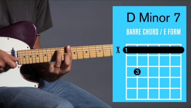 ZZZZV. How to Play a D Minor 7 Barre Chord on Guitar Promo Image