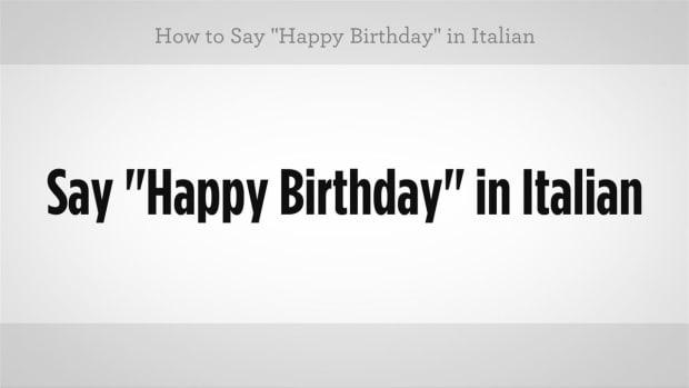 "K. How to Say ""Happy Birthday"" in Italian Promo Image"