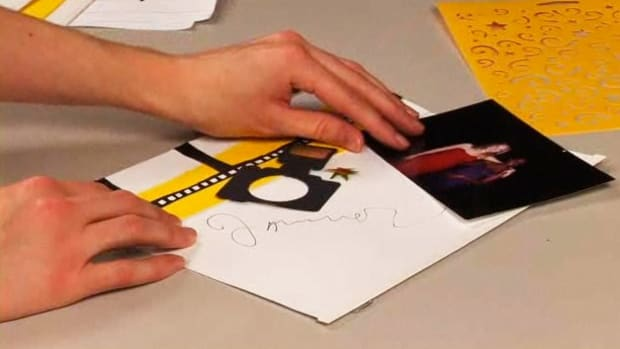 O. How to Scrapbook an Autograph Promo Image
