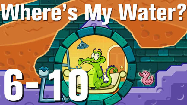 ZZZZF. Where's My Water Walkthrough Level 6-10 Promo Image