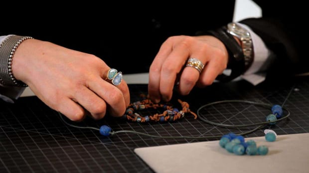 F. How to String Beads on Leather Promo Image
