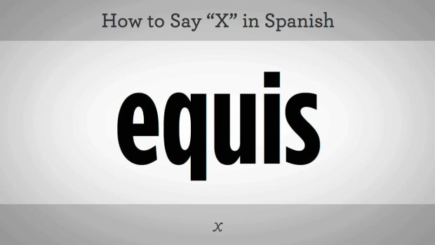 "O. How to Say ""X"" in Spanish Promo Image"