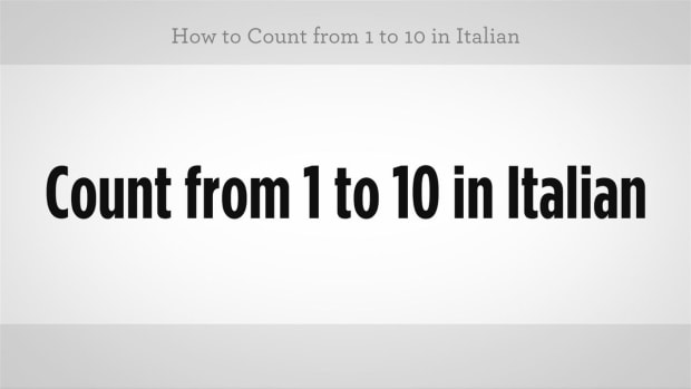ZZY. How to Count from 1 to 10 in Italian Promo Image
