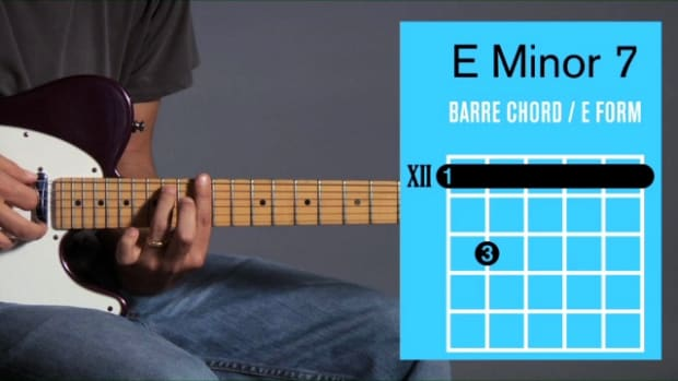 ZZZZW. How to Play an E Minor 7 Barre Chord on Guitar Promo Image