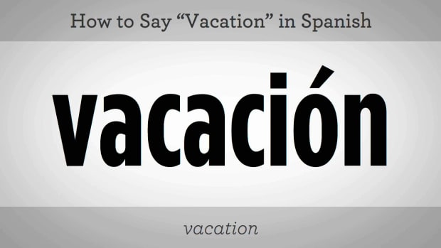 "R. How to Say ""Vacation"" in Spanish Promo Image"