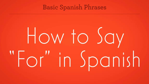 "ZS. How to Say ""For"" in Spanish Promo Image"