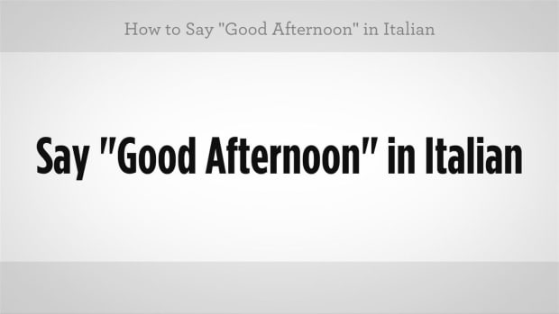 "M. How to Say ""Good Afternoon"" in Italian Promo Image"