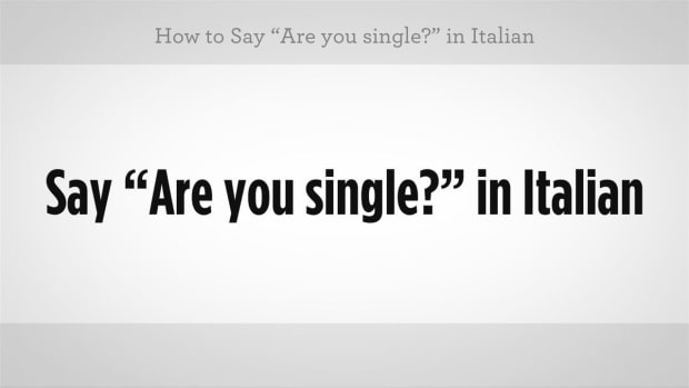 "ZZZF. How to Say ""Are You Single"" in Italian Promo Image"
